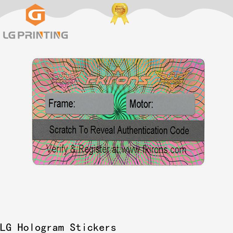 LG Printing round 3d hologram sticker printer for pharmaceuticals
