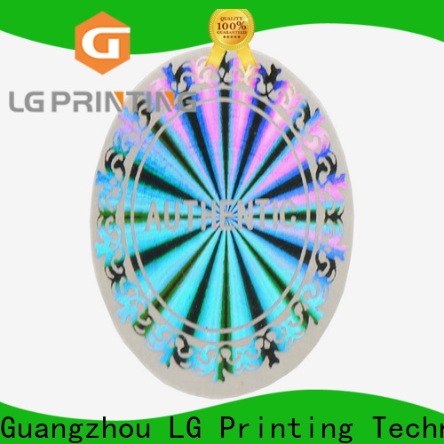 LG Printing one time void stickers vendor for garment hangtag