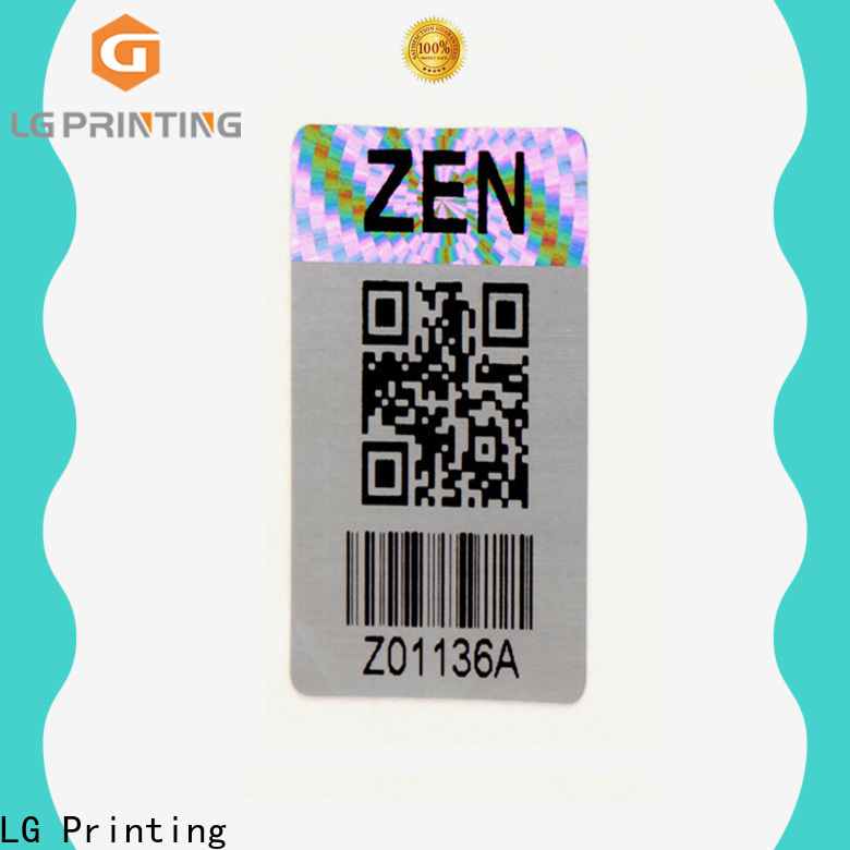 LG Printing Custom made waterproof stickers for bottles vendor for garment hangtag