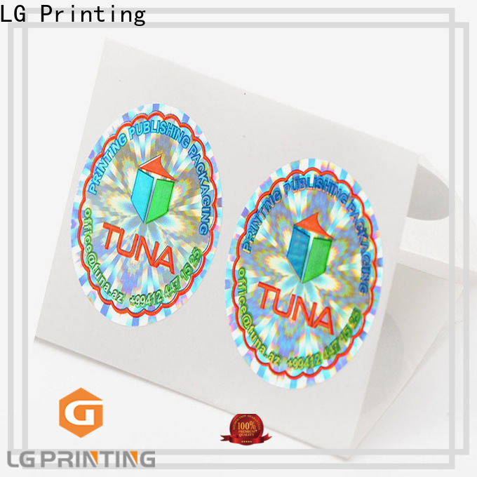 LG Printing barcode hologram sticker custom suppliers for electronics