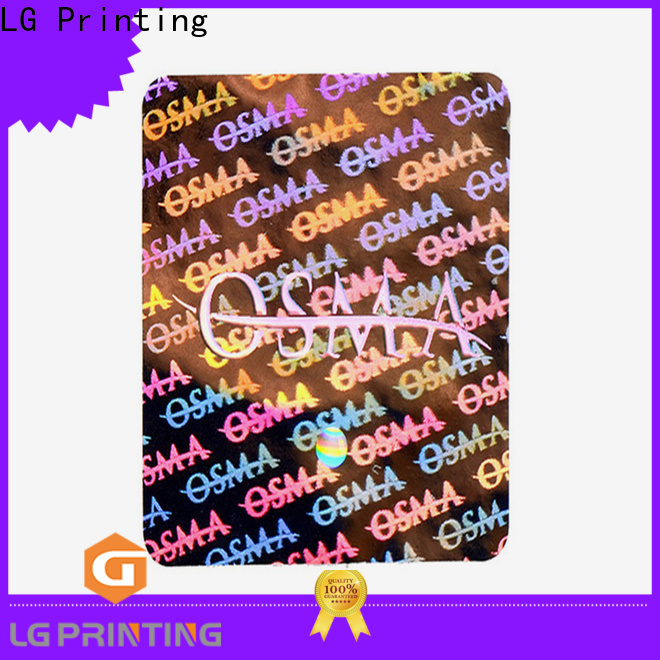 LG Printing Customized make a hologram sticker supply for cosmetics