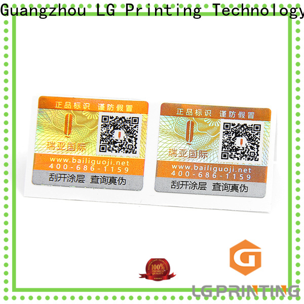 LG Printing Bulk buy security seal stickers supply for box