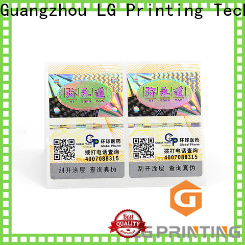 LG Printing holographic label maker company for goods