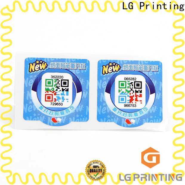 LG Printing Custom holographic labels suppliers