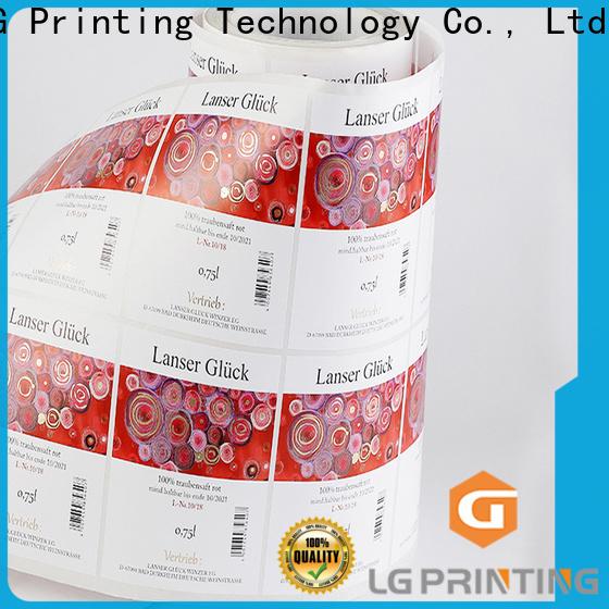 LG Printing pvc custom packaging boxes wholesale for bottle
