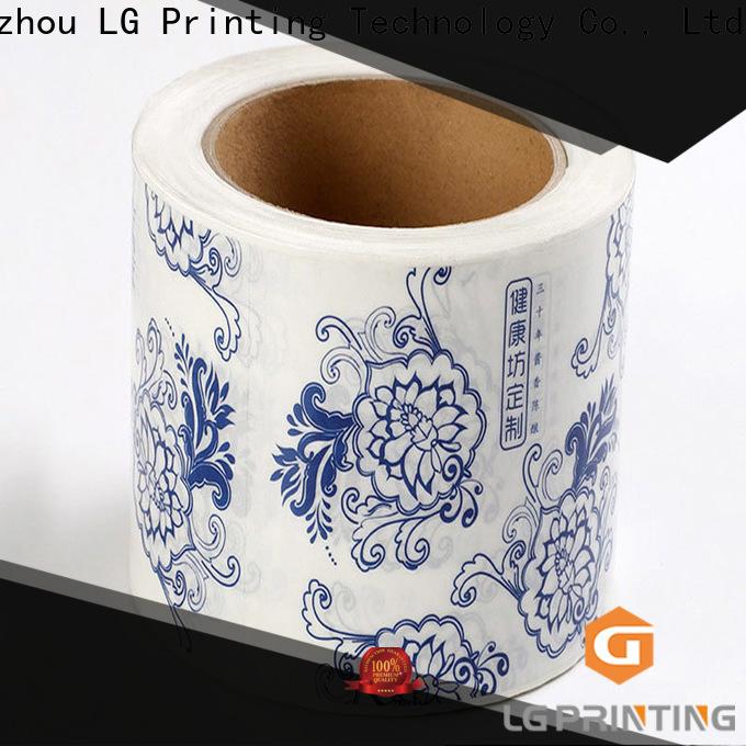 Customized bottle sticker printing bopp price for jars