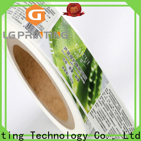 LG Printing Professional pre printed labels cost for jars