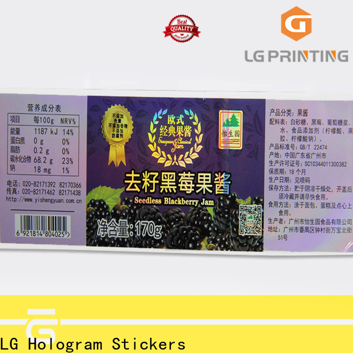 LG Printing High-quality supreme holographic sticker factory price for bottle package