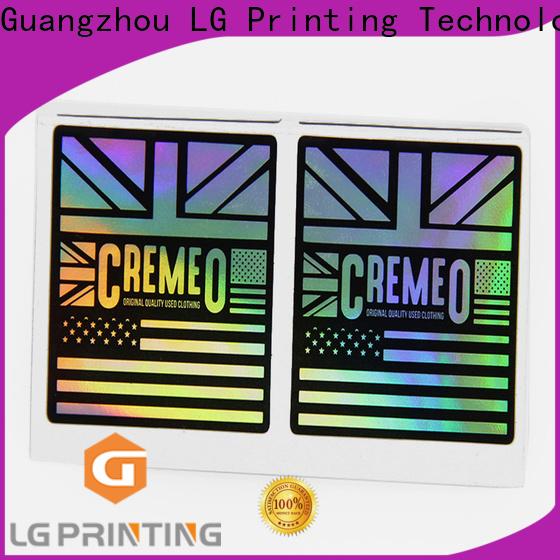 LG Printing Best custom made hologram stickers vendor for metal box surface