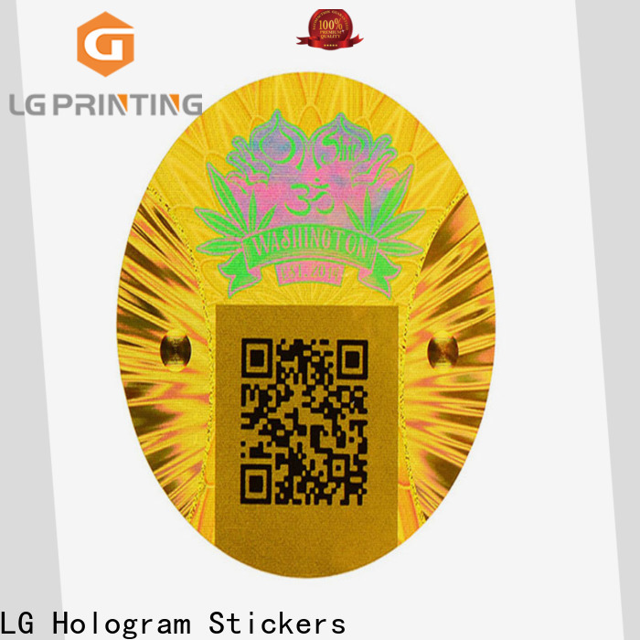 LG Printing gold custom void stickers factory price for skin care products