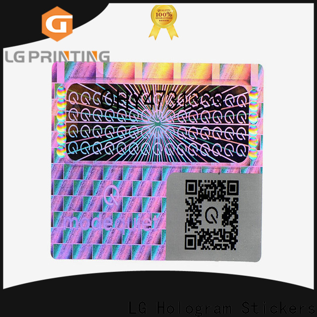 LG Printing Best custom security hologram stickers cost for pharmaceuticals