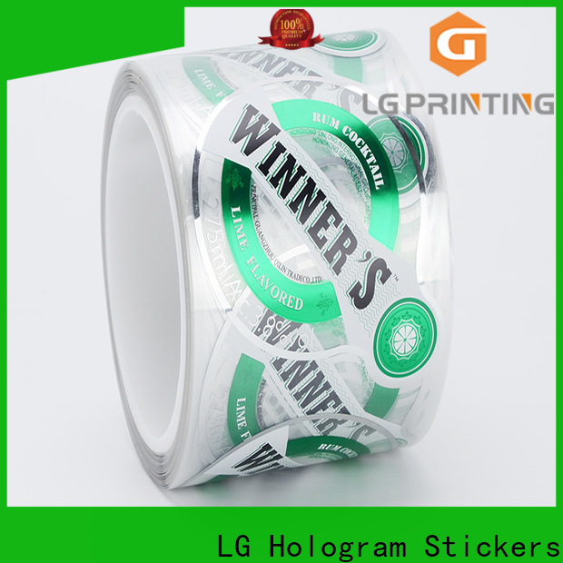 LG Printing bopp water bottle wrap labels suppliers for bottle