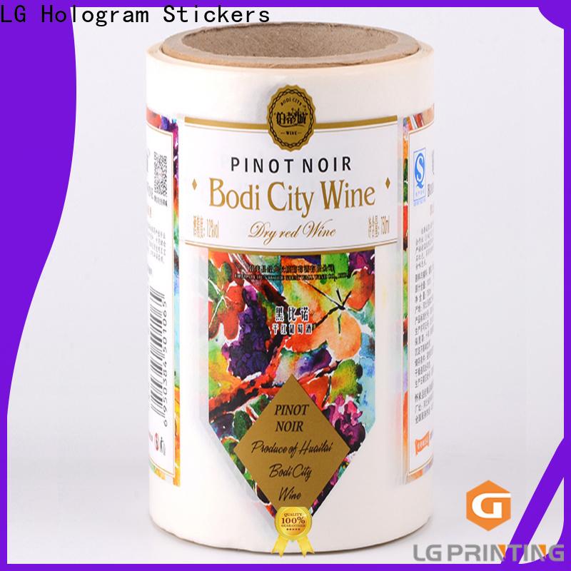 LG Printing Professional best wine bottle labels factory for jars
