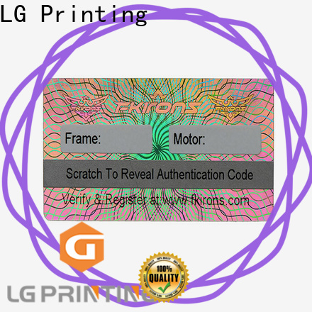 LG Printing High-quality holographic sticker paper manufacturers for electronics