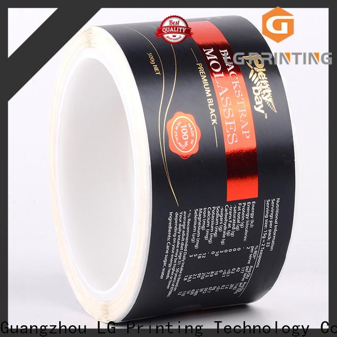 LG Printing Custom bulk label printing supply for cans