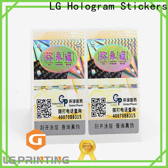 LG Printing Custom made label wholesale for cosmetics