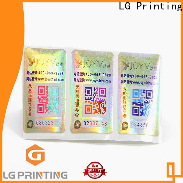 LG Printing Custom made 3d label printing manufacturers