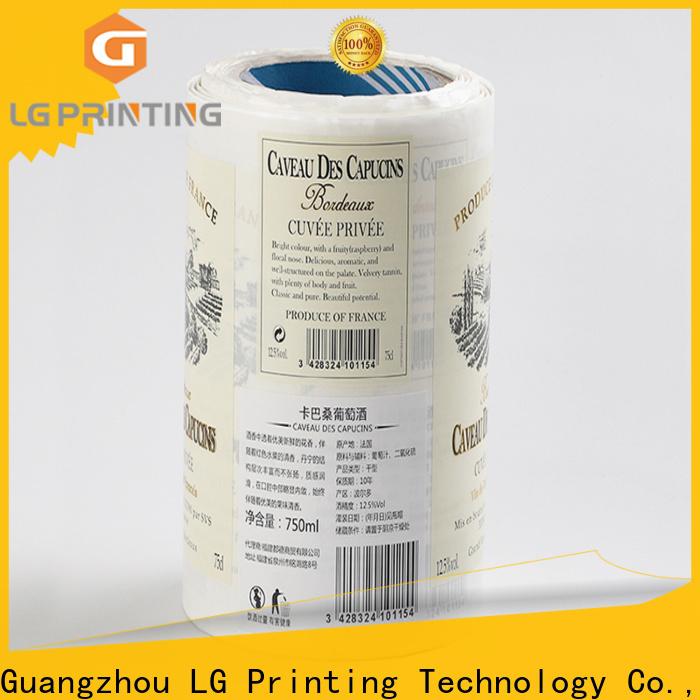 LG Printing Buy self adhesive printer paper factory for cans