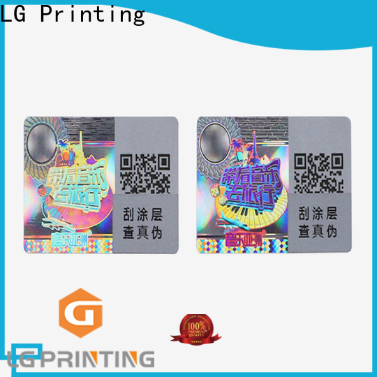 LG Printing hologram overlay stickers manufacturers for pharmaceuticals