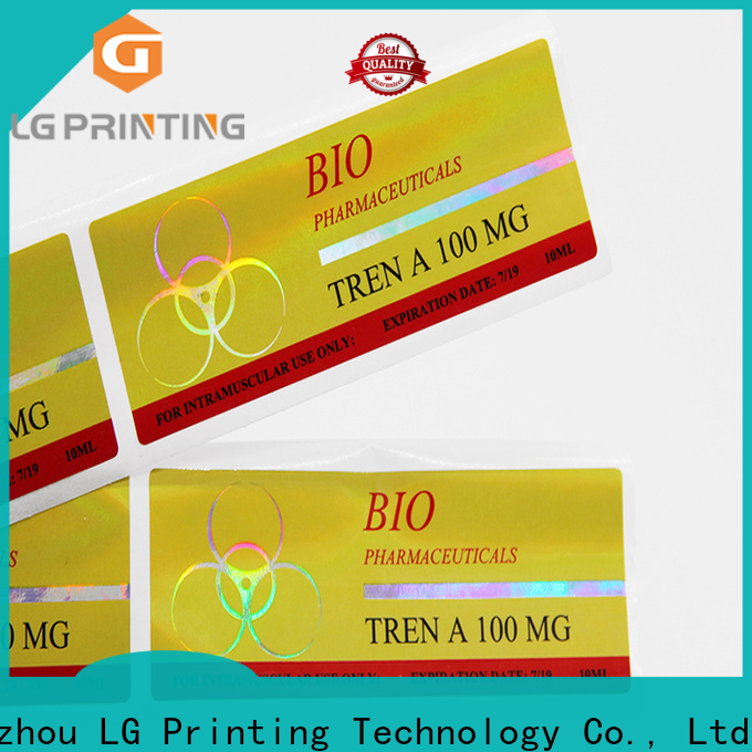 LG Printing Bulk buy holographic strips wholesale for plastic box surface