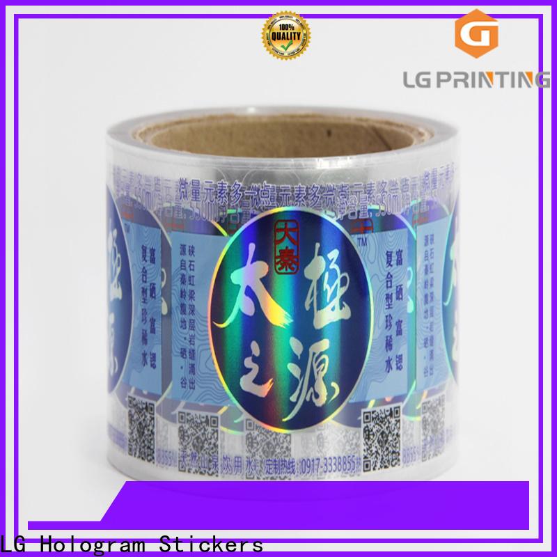 Bulk buy custom holographic prints price for bottle package