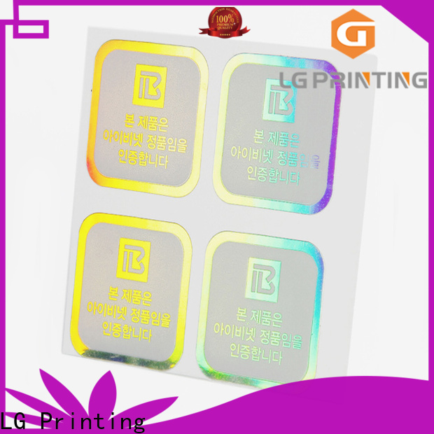 LG Printing custom holographic prints supply for bottle package