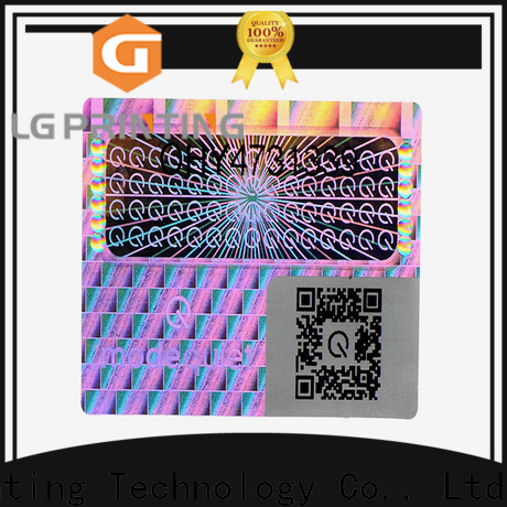 LG Printing Buy hologram stickers for id cards wholesale for skin care products