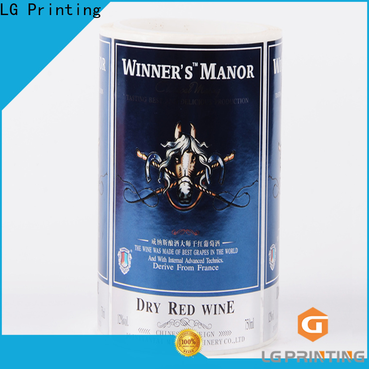 LG Printing silver printing adhesive labels wholesale for bottle