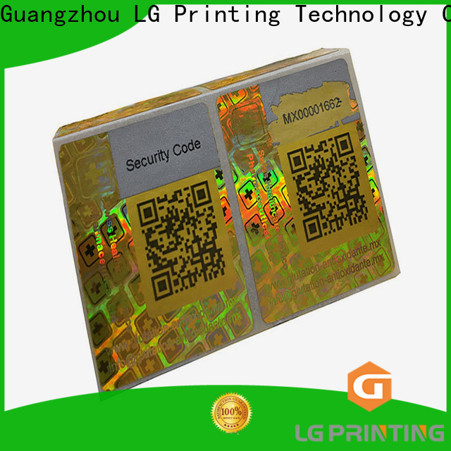 Custom label hologram numbering factory price for skin care products