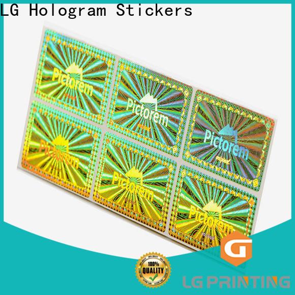 Buy hologram serial number stickers silver vendor for garment hangtag