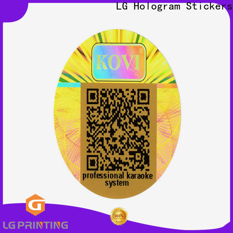 LG Printing custom holographic stickers company for cosmetics