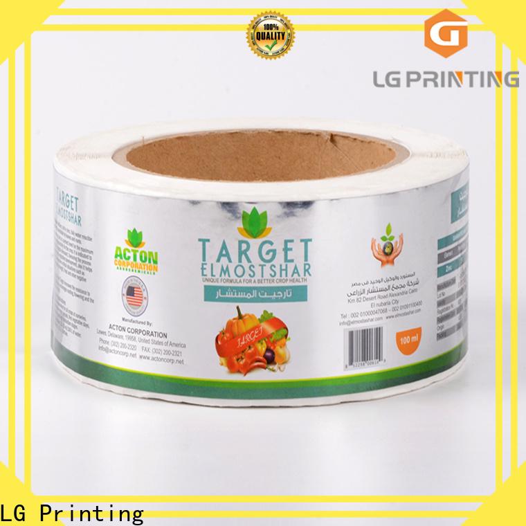 LG Printing Custom self adhesive vinyl printing paper cost for cans