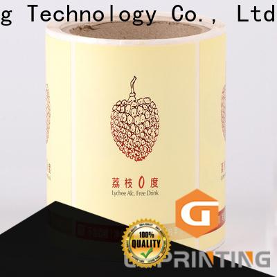 LG Printing gold custom sticker labels for bottles factory for bottle