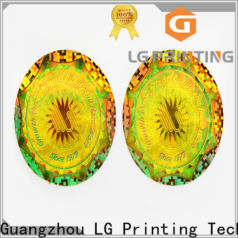 LG Printing Best hologram stickers staples cost for garment hangtag