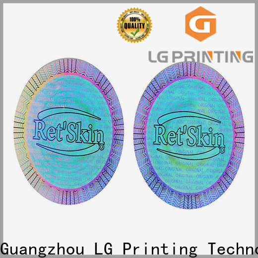 LG Printing authentic hologram stickers price factory for garment hangtag