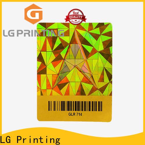 LG Printing holographic sticker custom vendor for electronics