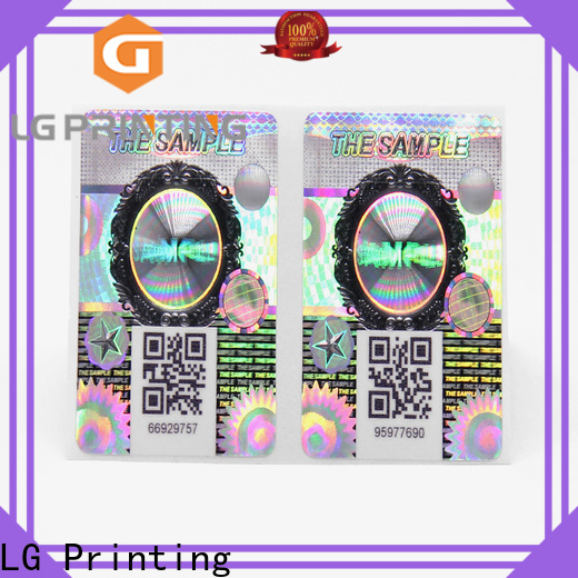 LG Printing tamper proof stickers manufacturers for cosmetics