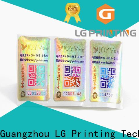 Bulk holographic label paper wholesale for goods