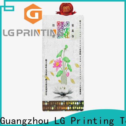 LG Printing adhesive labels for bottles company for cosmetics