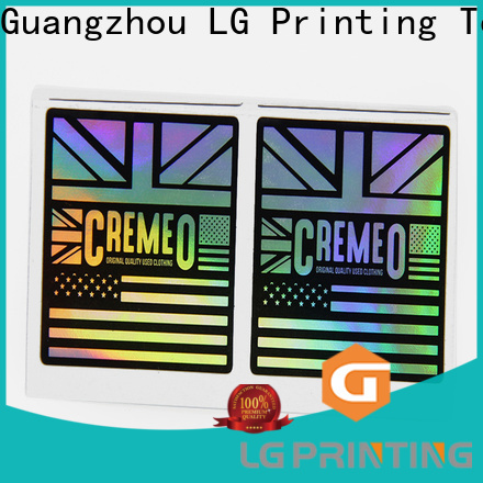 LG Printing Customized laser hologram sticker cost for bottle package