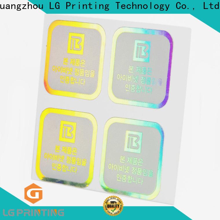 LG Printing supreme holographic sticker vendor for package