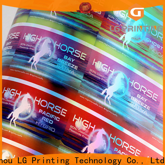 Professional hologram sticker manufacturer vendor for metal box surface