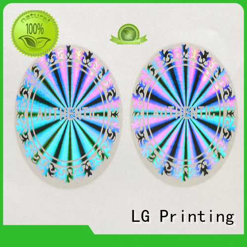 label rectangle printing LG Printing Brand hologram sticker