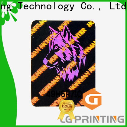LG Printing Top small hologram stickers manufacturers for garment hangtag