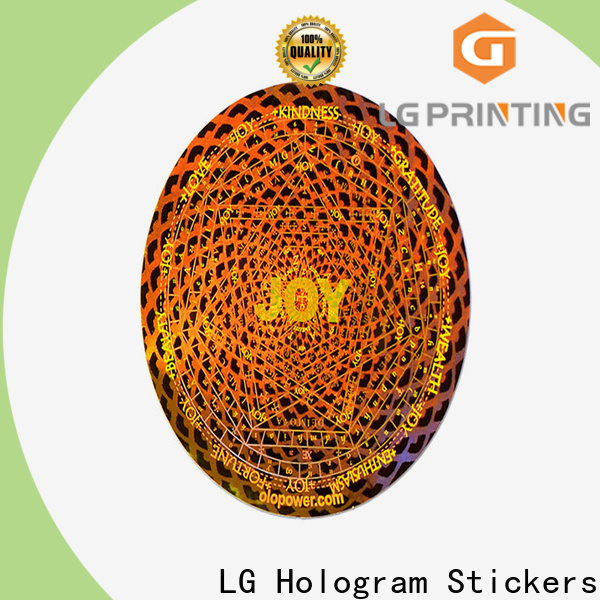 LG Printing golden void sticker manufacturers for skin care products
