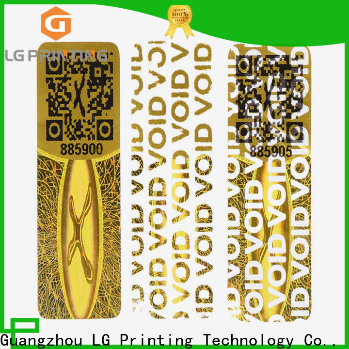 LG Printing Professional hologram security stickers supply for electronics