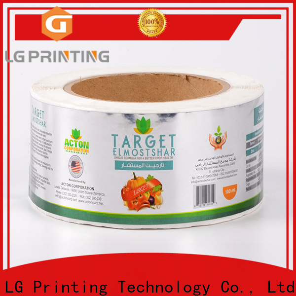 LG Printing Custom plastic stickers manufacturers vendor for cans