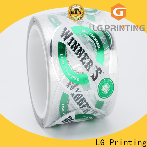 Customized label printing companies foil suppliers for wine bottle