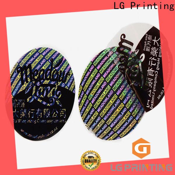 LG Printing retangle hologram overlay stickers supply for electronics