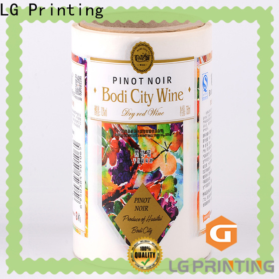 LG Printing pvc plastic labels for bottle